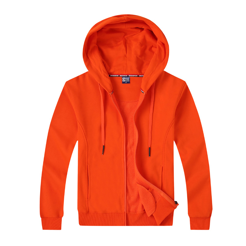 # 8027-Full-Zip LightWeight σακάκι Uni Colour Hooded